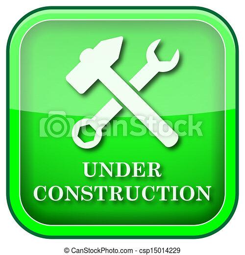 Green square shiny icon - csp15014229