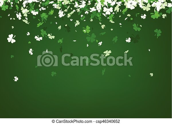 Green St. Patrick's day background. - csp46340652