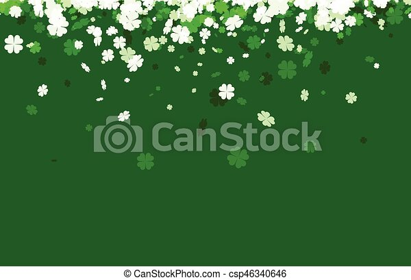Green St. Patrick's day background. - csp46340646