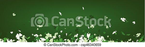 Green St. Patrick's day banner. - csp46340659