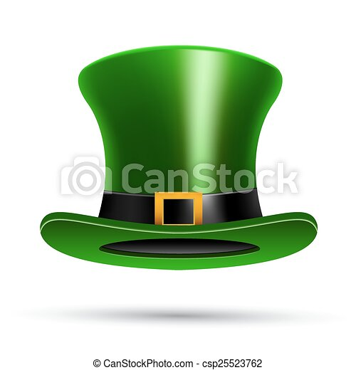 Green St. Patrick's Day hat - csp25523762