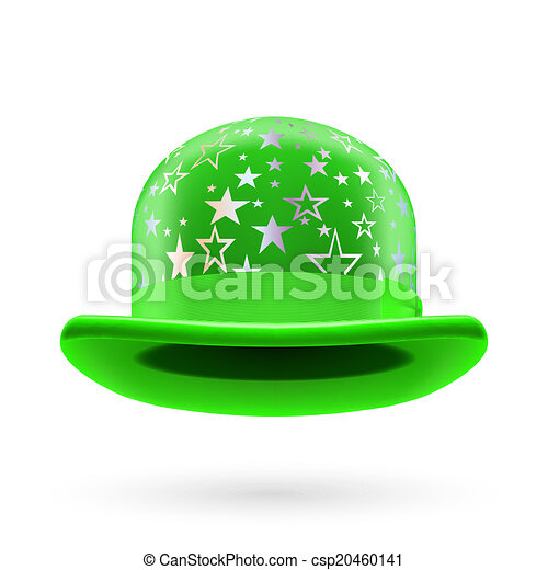 Green starred bowler hat - csp20460141