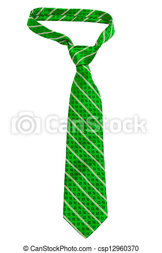 green striped necktie - csp12960370
