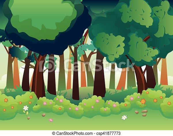 Green Summer Forest - csp41877773