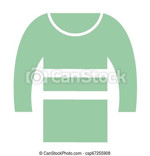 green sweater flat illustration - csp67255908