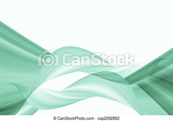Line Art Effect Photo : Green swirl background. wave effect pattern on white clip