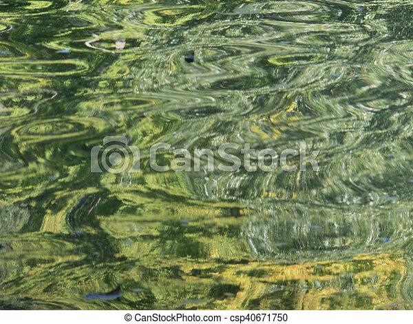 Green Swirls, Landscape Orientation - csp40671750