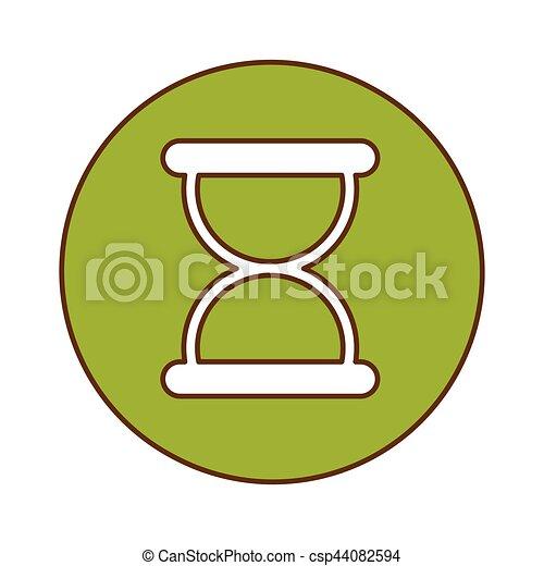 Green symbol loading button design - csp44082594