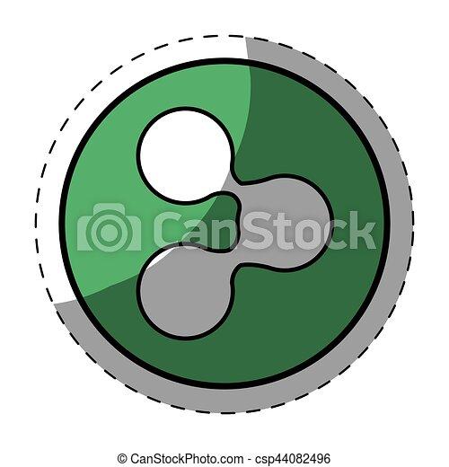 Green symbol share button image - csp44082496
