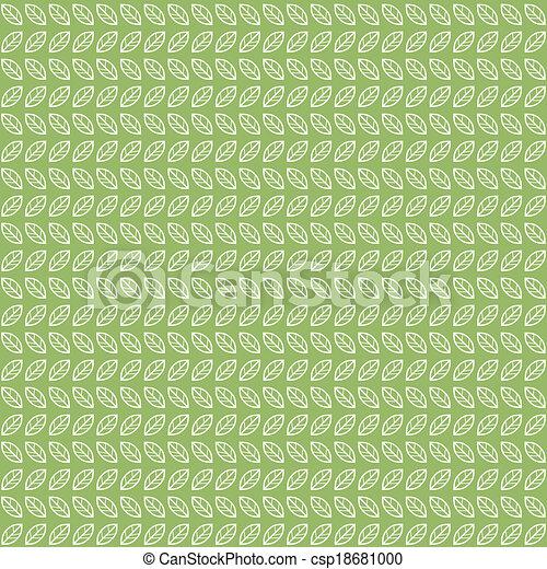 Green tea leaves pattern - csp18681000
