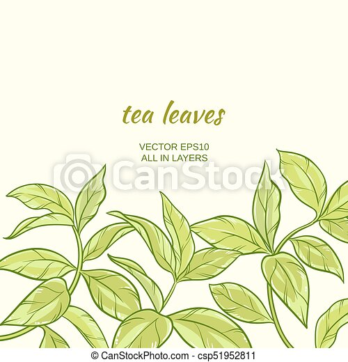 Illustration with green tea leaves on color background green tea leaves csp51952811 thecheapjerseys Image collections