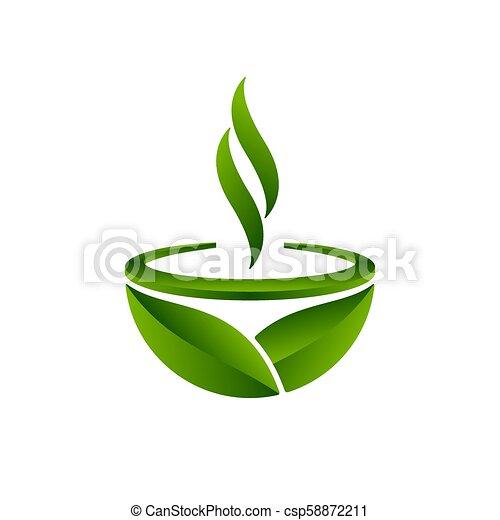 Green tea symbol, vector illustration - csp58872211