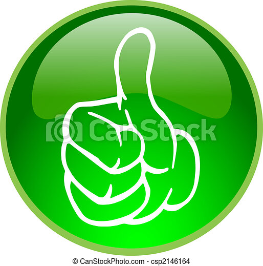 green thumb up button - csp2146164