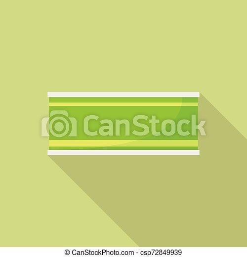 Green tin can icon, flat style - csp72849939