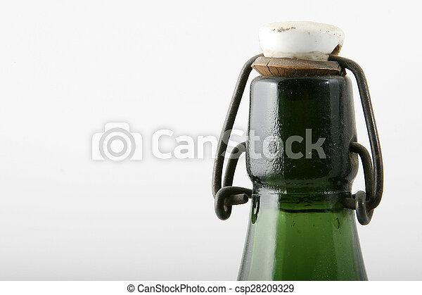 green top of bottle - csp28209329