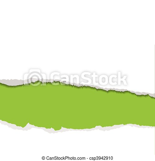green torn strip background - csp3942910