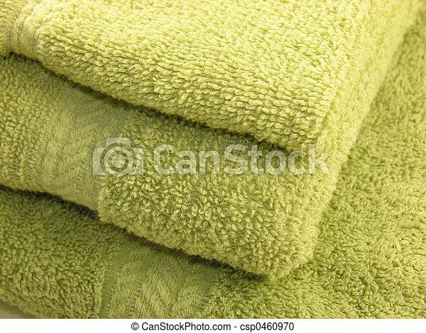 Green Towels - csp0460970