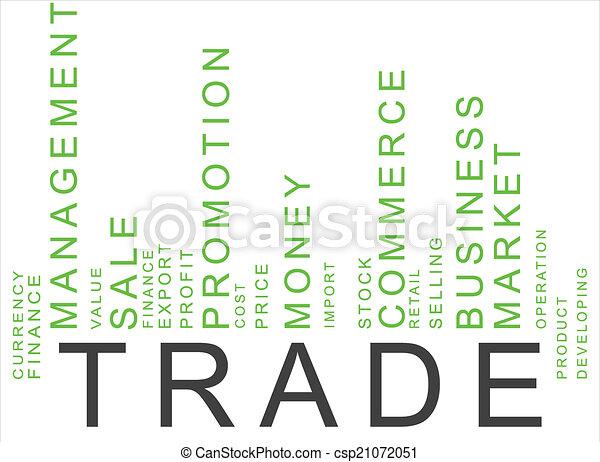 green trade text barcode - csp21072051
