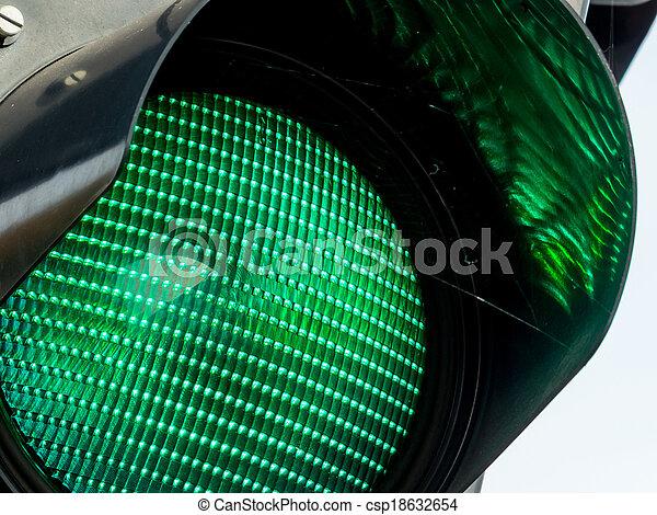 green traffic light - csp18632654