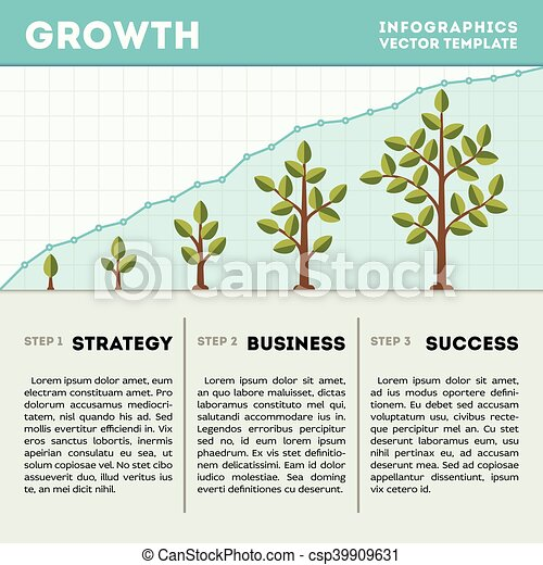 Green tree and plant timeline diagram infographics vector template green tree and plant timeline diagram infographics vector template business growth concept wajeb Choice Image