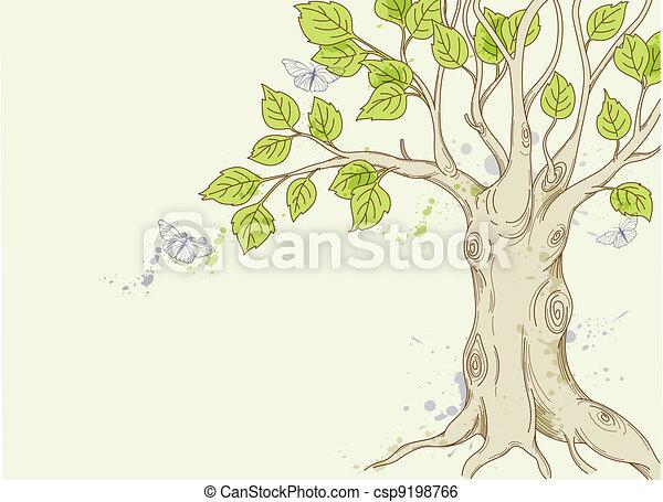 green tree - csp9198766