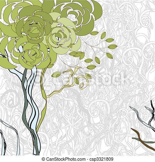 Green tree - csp3321809