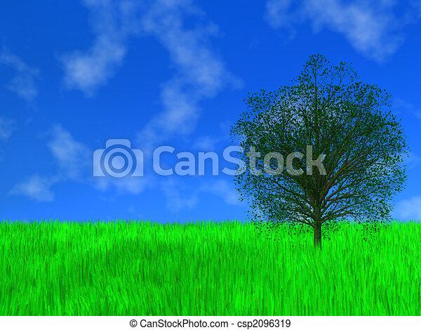 Green tree - csp2096319