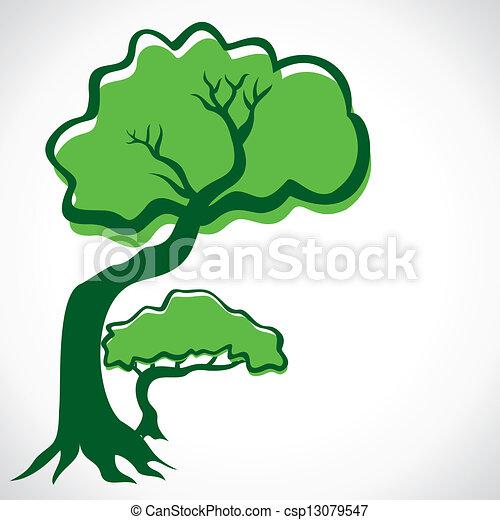 green tree - csp13079547