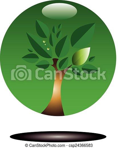 Green tree - csp24366583