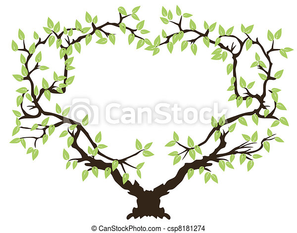 green tree frame green tree with copy space in middle rh canstockphoto com Cartoon Space Rocket Clip Art