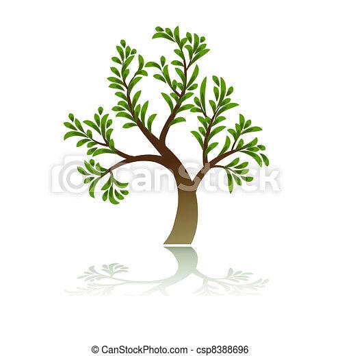 Green Tree Icon - csp8388696