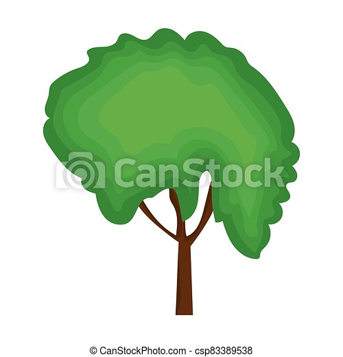 Green tree icon - csp83389538