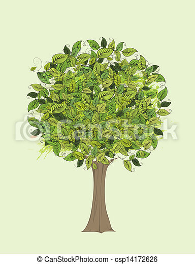 Green tree - csp14172626