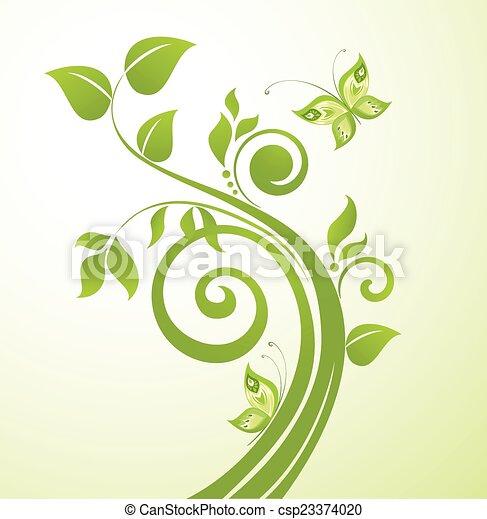 Green tree - csp23374020