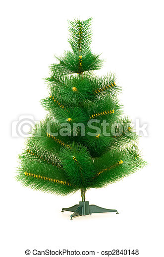 Green tree isolated on the white background - csp2840148