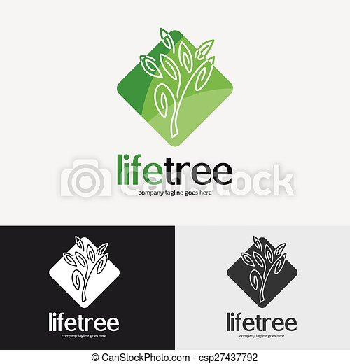 Green Tree Logo Vintage Emblem With Detailed Vector Eps Vectors