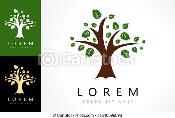 green tree logo - csp48599896