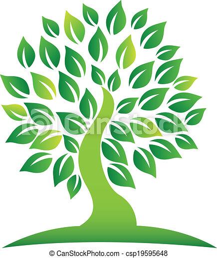 Green tree logo - csp19595648