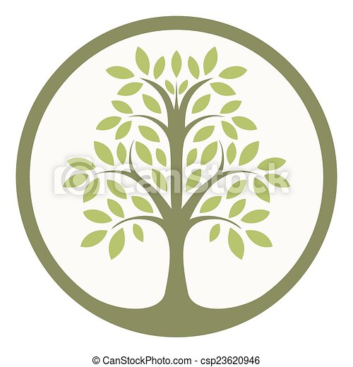 green tree of life in a circle rh canstockphoto com disney tree of life clipart tree of life circle clip art