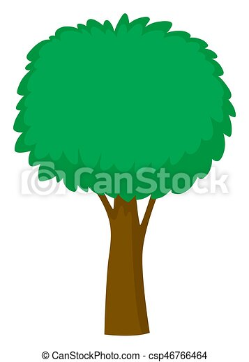 Green tree on white background - csp46766464
