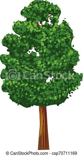 Green tree vector icon - csp70711169