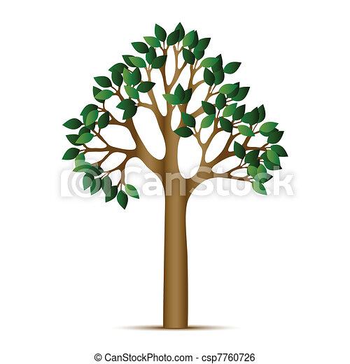 green tree vector icon - csp7760726