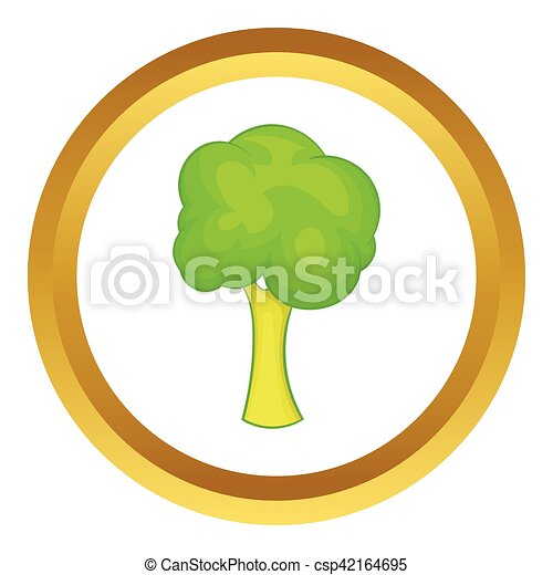 Green tree vector icon - csp42164695