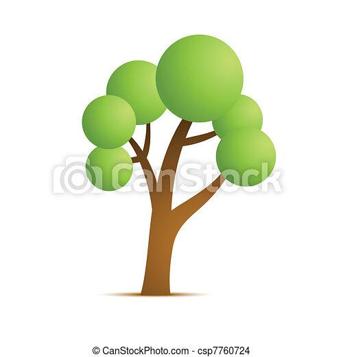 green tree vector icon - csp7760724