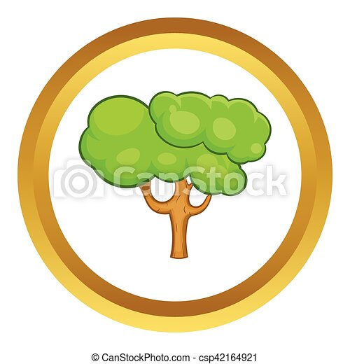 Green tree vector icon - csp42164921