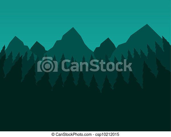 Green Trees and Mountains  - csp10212015
