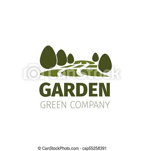 Green trees forest or garden vector nature icon
