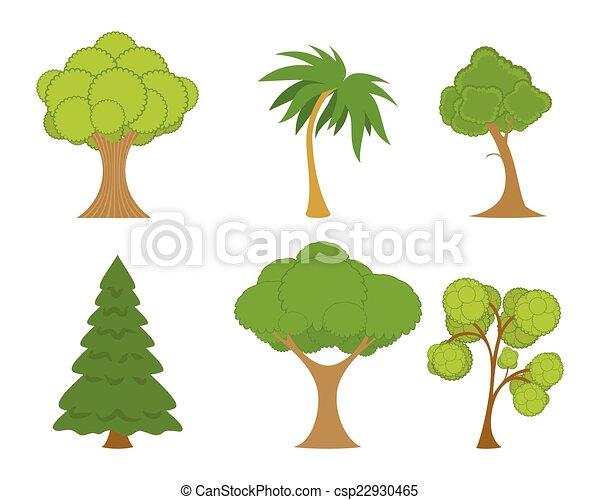 Green trees set - csp22930465