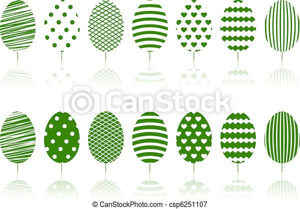 Green trees set. - csp6251107