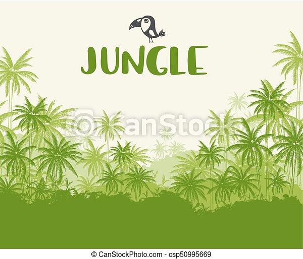 Green Tropical landscape - csp50995669